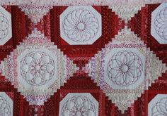 The blocks piecing seams was digitized in 5D Design Creator, embroideries added in 5D Embroidery. All the blocks are made in the hoop. The quilt was then finished with Quilt As You Go.
