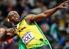 Usain Bolt: Convinved he will have the better of Yohan Blake in the Usain Bolt Pose, Usain Bolt Photos, George Orwell, Orange Cinema, Yohan Blake, Carl Lewis, Fastest Man, Gareth Bale, Baseball Promposals
