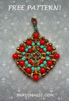 Free pattern for pendant Boho | Beads Magic