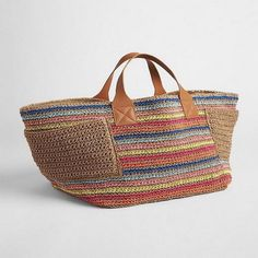 """New Cheap Bags. The location where building and construction meets style, beaded crochet is the act of using beads to decorate crocheted products. """"Crochet"""" is derived fro Crochet Tote, Crochet Handbags, Bead Crochet, Handmade Handbags, Handmade Bags, Fabric Purses, Straw Tote, Knitted Bags, Jute"""