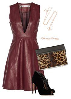 """""""Leather mini dress"""" by alwayswearwhatyouwanttowear on Polyvore"""
