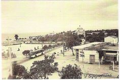 Glyfada's main square, c.1950's Greece Pictures, Old Pictures, Old Photos, Vintage Photos, Greek Culture, The Old Days, Athens Greece, Old City, Paris Skyline
