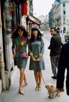 Mia Fonssagrives, Vicki Tiel, Paris, 1966 ♫ ♪ ♫♪