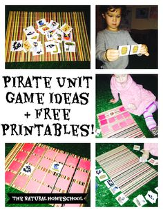 pirate unit game ideas and free printables