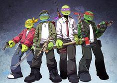 Ninga Turtles, Ninja Turtles Art, Teenage Mutant Ninja Turtles, Tmnt 2012, Tmnt Wallpaper, Tmnt Swag, Tmnt Girls, Tmnt Comics, Dope Cartoons