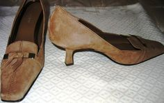 ETIENNE AIGNER TAN SUEDE SHOES!