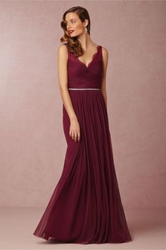 Beautiful burgundy bridesmaid dress 'Fleur' BHLDN Bridesmaid Dresses