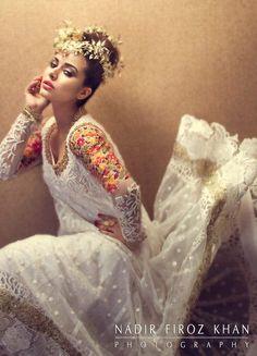 White Lace Anarkali, breath taking!