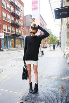 beautiful basics // joe fresh sweater, helmut lang skirt, rag and bone boots // lefurcoat.blogspot.com