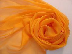Seidenschal 180x45cm melone Stola Tissu de gaze   von Textilkreativhof auf DaWanda.com