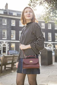 The Cambridge Satchel Company Leather Mini Daisy Bag Handmade in the UK. Structured Bag, Oxblood, Pastel Colors, Compliments, Daisy, Chic, Mini, Leather, Clothes