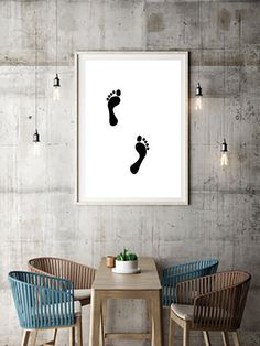 Excited to share the latest addition to my #etsy shop: Minimalism foot wall art, black and white digital illustration feet drawing poster print, home decor baby kids room, nursery decoration https://etsy.me/2IX46HD