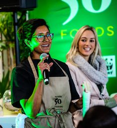 Chef Kamini Pather introduces her innovative menu at the South African event. The menu included a variety of Future 50 Foods, including millet, lentils, wild rice, red cabbage and beet leaves. Sustainable Food, Red Cabbage, Wild Rice, Beets, Lentils, 50th, Menu, African, Leaves