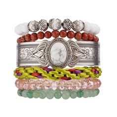 'Faded Memories' Bracelet stack exquisite style