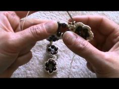bracciale all'uncinetto con perline variante - YouTube