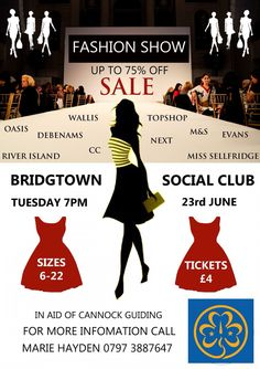 Fashion show, sell tickets, get friends or family to share the buffet, company called shop 2drop come with all the clothes, high street clothes for sale with 70% off