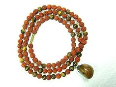 Yoga Gift Idea Rudraksha Prayer Mala Tiger Eye Stone Healing Jewelry 108+1 Beads Mogul Interior http://www.amazon.ca/dp/B00XKSM8YU/ref=cm_sw_r_pi_dp_5H-9vb1A8PTNE#jewel #indianjewellery #bohojwellery