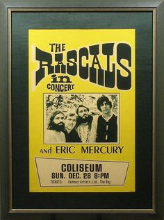1969 The Rascals Concert Poster
