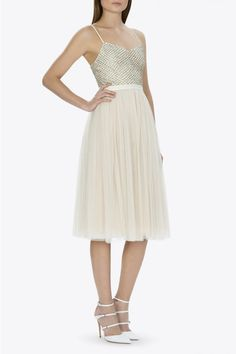 BRIDAL CREAM PINK COPPELIA BALLET DRESS