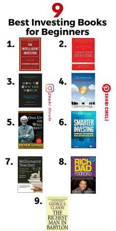 Investing books, Stock market books, Books to read in your Finance books, Investing in stocks, Stock market for beginners - 9 Best Investing Books for Beginners You Should Read - Books To Read In Your 20s, Best Books To Read, Good Books, Investing In Stocks, Investing Money, Saving Money, Stock Investing, Book Club Books, Book Lists