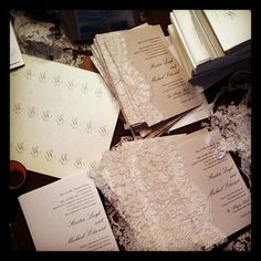 Lace on invites