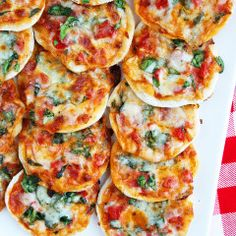 Perfect for a shower/appetizer party! Mini Pizza Recipe