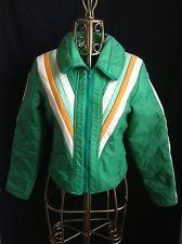 *Vintage* Bright Green 1970's Retro Aspen Puffer Ski Jacket Coat, Size S EUC