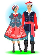 Strój kujawski Polish website Folk Fashion, Womens Fashion, Polish Clothing, Polish Folk Art, Ethnic Outfits, Folk Costume, My Heritage, My People, Dance Costumes