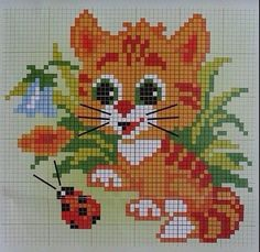 21 Cats And Kittens Reminding You What Cute Looks Like Cross Stitch Bookmarks, Cross Stitch Baby, Cross Stitch Animals, Cross Stitch Charts, Cross Stitch Designs, Cross Stitch Patterns, Cat Cross Stitches, Cross Stitching, Cross Stitch Embroidery