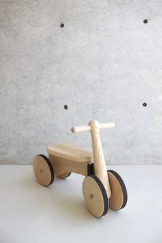 Kid's Walker with Wagon (wood toy) by RÜSKASA for Jardins Florian