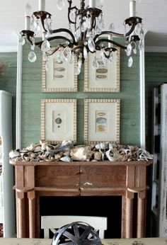 beach house mantel