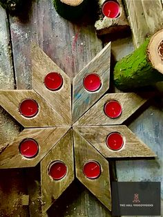8 tea light candle holder Available to order on Facebook through the link Log Table, Bird Boxes, Table Centers, Tealight Candle Holders, Milling, Woodworking, Candles, Facebook, Holiday Decor