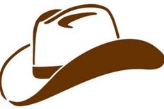 'Western Cowboy Hat in Black Stylized Brush Marks Vector