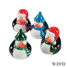 Penguin rubber ducks