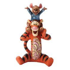 Enesco Disney Tradition - Figurilla de Tigger y Roo, de resina, altura de 12 cm, multicolor
