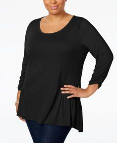 20a79451014 NY Collection Plus Size High-Low Top  14.99 Update your everyday essentials  with NY Collection s