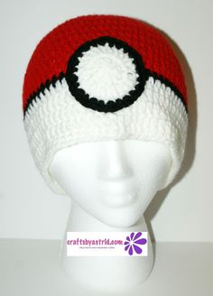 """8"""" x 18"""" Pokémon Crocheted Hat. 2 Years - 4 Years. ***This crochet hat can be made in any size."""