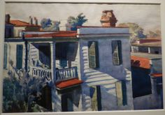 """Edward Hopper, """"Ashe's House, Charleston, South Carolina,"""" 1929. From the William S. Paley collection shown at the Crystal Bridges Museum of American Art."""