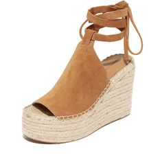Sigerson Morrison Audora Espadrille Wedge Sandals (405 CAD) ❤ liked on Polyvore featuring shoes, sandals, croissant, espadrille sandals, espadrille wedge sandals, leather wedge sandals, leather sandals and ankle tie sandals