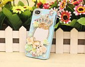 Pretty 3D Alloy Rhinestone Make-up Mirror Crown & Butterfly Flowers Pearls Cell Phone Case Cover for iPhone 4 /4s 5/ 5S 5C 6 /6 Plus