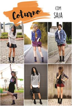 8eb5a7299 16 melhores imagens de Look botas cano curto | Fall winter fashion ...