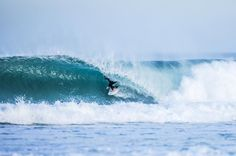 Our Brunotti teamrider Brett Burcher is getting barreled in perfect conditions.