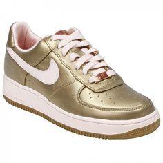 Nike Womens Air Force 1 07 Low Premium (metallic gold / aluminum pink)-8.0