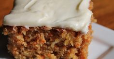 I have been searching for the perfect carrot cake recipe and got this one from a friend.  It is delicious, not dry and not soggy...and the...