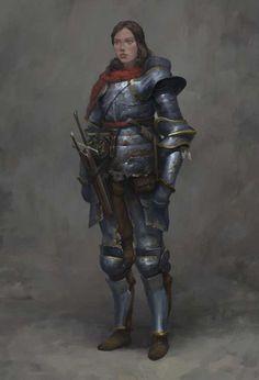 f Fighter Plate Armor Cloak Swords urban City undercity foxy-nerdy Knight by Mihail Golovin Fantasy Armor, Medieval Fantasy, Dark Fantasy, Good Knight, Knight Art, Female Armor, Female Knight, Dnd Characters, Fantasy Characters