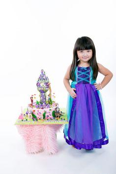 Ariel Costume Dress: The Little Mermaid Birthday by KnottedWear