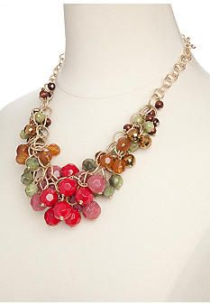 New Directions® Beaded Bib Necklace - Belk.com