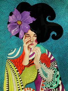 Pinzellades al món: Dones il·lustrades per Hülya Özdemir / Mujeres ilustradas / Women illustrated by Hülya Özdemir