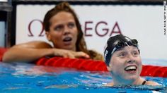 US star Lilly King backed up her fighting talk by defeating Russia's world champion Yulia Efimova to win Olympic gold in the 100 meters breaststroke at Rio 2016.