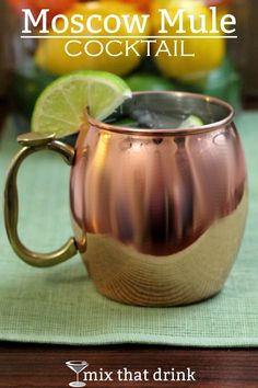 With or without the iconic copper mug, the Moscow Mule is a classic cocktail. It features the refreshing combination of vodka, ginger beer and lime, and is totally deserving of top shelf ingredients.